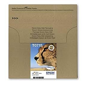 Epson Cheetah T0715 DURABrite Ultra Ink Easy Mail Cartridges - Pack of 4