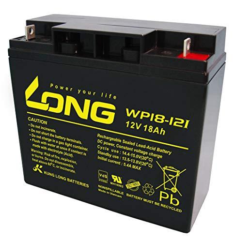 Kung Long WP18-12I Akku 18Ah 12V AGM zyklenfest Blei Batterie Rasenmäher Rasentraktor Aufsitzmäher Boot Scooter 17Ah 19Ah 20Ah 22Ah 23Ah
