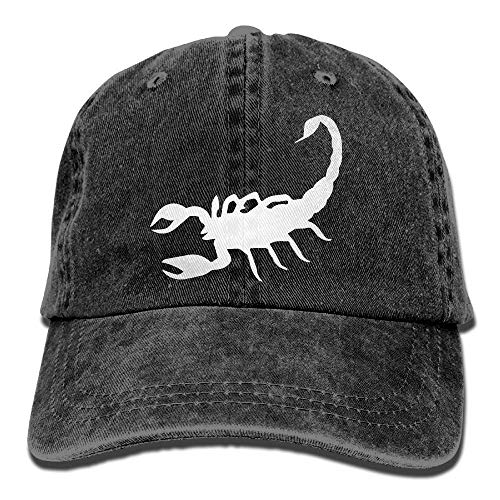 hgfyef Unisex Baseball Cap Yarn-Dyed Denim Hat Scorpion Tattoo Adjustable Snapback Outdoor Sports Cap DIY 9115