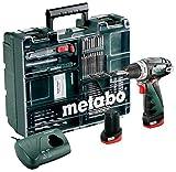 Metabo 10.8Volt trapano avvitatore a batteria Power Maxx BS Basic per officina mobile + Set di 64pezzi di set, 1pezzi, 600080880