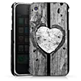 DeinDesign Apple iPhone 3Gs Coque Étui Housse C½ur en bois