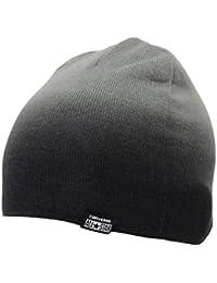 Converse Mütze Gradient Roll Up Beanie schwarz grau - Einheitsgrösse, kleiner Schnitt