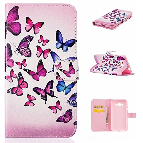 Aeeque iPhone 5/5S/5C/SE/6 plus/6S,, Samsung Galaxy S3/S4/S5/S6/S6/S6 Edge Edge J5/plus/nota 5/S7/S7/Edge G360/G530/i9060, Sony Xperia M4/Z5 mini/Z5, P8 Huawei Lite pittura, disegno elegante Custodia a portafoglio in pelle Pu
