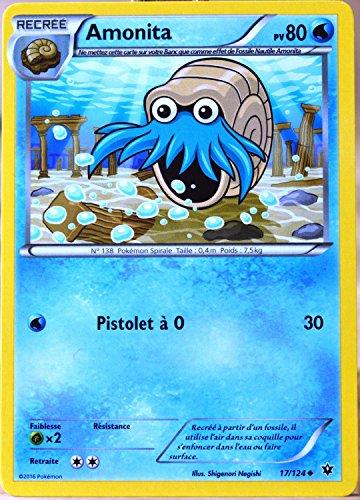 carte Pokémon 17/124 Amonita 80 PV XY - Impact des Destins