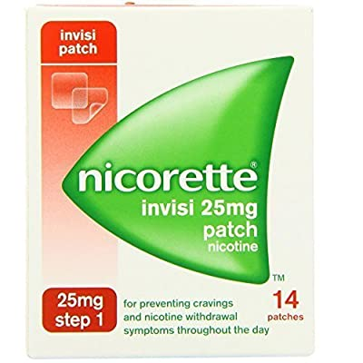 Nicorette Invisi 25mg Patch Nicotine 14 Patches Step 1 Stop Quit Smoking by NICORETTE