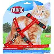 Trixie 41893 Cat Set of Harness and Lead for Large Cats Nylon Patterned 34 - 57 cm / 13 mm(Assorted Colors)
