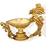 Redbag Floral Lamp (Diya) In Brass 633