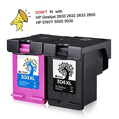 H & bo nero + tricolore) per hp 304xl cartucce d' inchiostro rigenerate disponibile per n9k08a n9k07a per hp deskjet 372037213723372437303732375237553758 1 bk + 1 tri-color