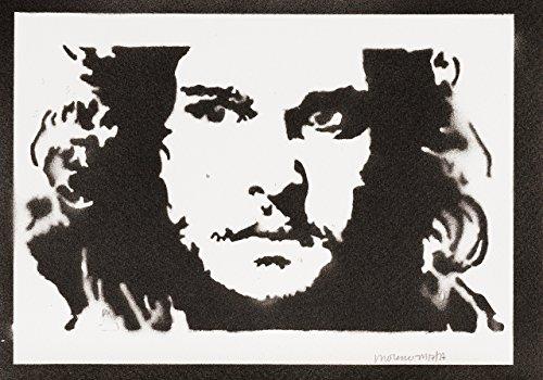 game of thrones steelbook staffel 3 Jon Snow Game Of Thrones Poster Plakat Handmade Graffiti Sreet Art - Artwork