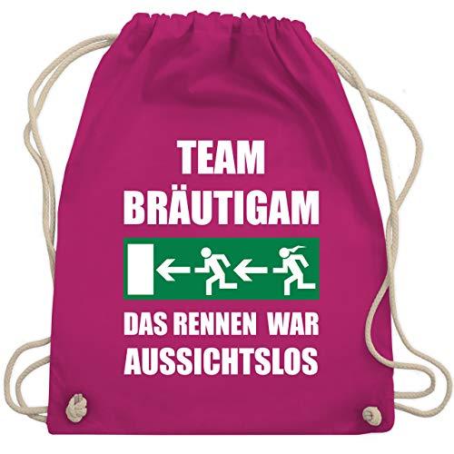 JGA Junggesellenabschied - JGA Team Bräutigam - Das Rennen war aussichtslos - Unisize - Fuchsia - WM110 - Turnbeutel & Gym Bag