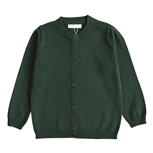 Brightup Frühling und Herbst Baumwoll Baby Kinder Pullover Strickjacke Langarm Jacke Mantel - Button-down-pullover-strickjacke