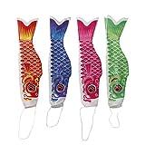 Sharplace 4 Pezzi Koinobori Carp Bandiera Segnavento Wind Streamer in 4 Colori