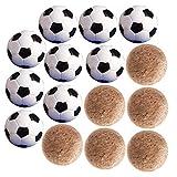 JNCH 9pcs Palline Calcio Balilla 32mm + 6pcs Mini Palline Balilla Sughero 36mm di Legno Palline Biliardino di Ricambio Professionali Standard per Giochi e Giocattoli Calcio da Tavolo