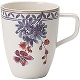Villeroy und Boch - Artesano Provencal Lavendel Kaffeebecher, Tasse in stilvollem Lavendel aus Premium Porzellan, spülmaschin