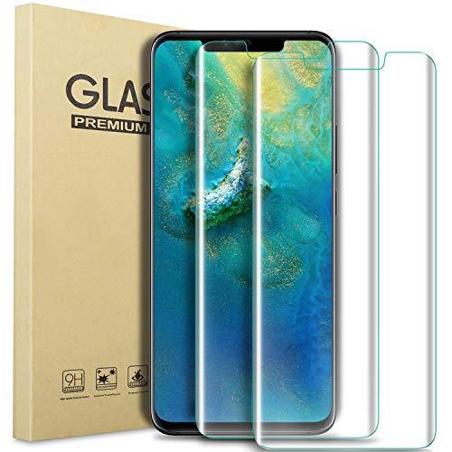 Geemai Huawei Companheiro 20 Protector Pro Screen, [2 Spare] Huawei Companheiro pro Caso 20 endurecido, [Sem impressão digital] [Altamente Light] [fácil de instalar] Film vidro temperado Film protecção para Huawei Companheiro 20 profissional. (Transparente)