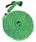 Tubo magico elasticizzato per giardino, pompa estenisibile fino a 3 volte la sua lunghezza iniziale. 30 metri, colore blu / verde