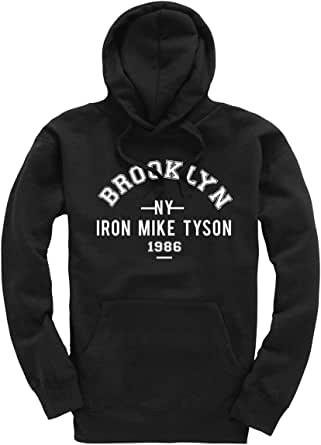 Iron Mike Tyson Brooklyn NY 1986 Boxing Premium Men's Black Hoodie/Hoody/Hooded Top