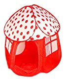Bellissima tenda per giocare adatta ai bambini - a forma di fungo, Tenda pop-up a forma di fungo adatta ai più piccolo, con custodia, Potrai controllare facilmente I bambini mentre giocano, grazie alle decorazioni semi trasparenti, La ...