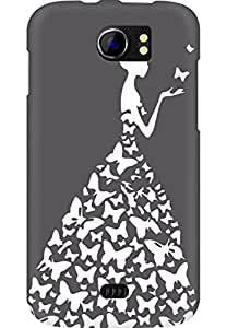 AMEZ designer printed 3d premium high quality back case cover for Micromax Canvas 2 A110 (grey white girl princess)