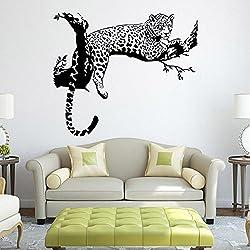 FAMILIZO Vivid Leopardo Pegatinas De Pared De La Sala Decoración Del Dormitorio Del Papel Pintado Desprendible