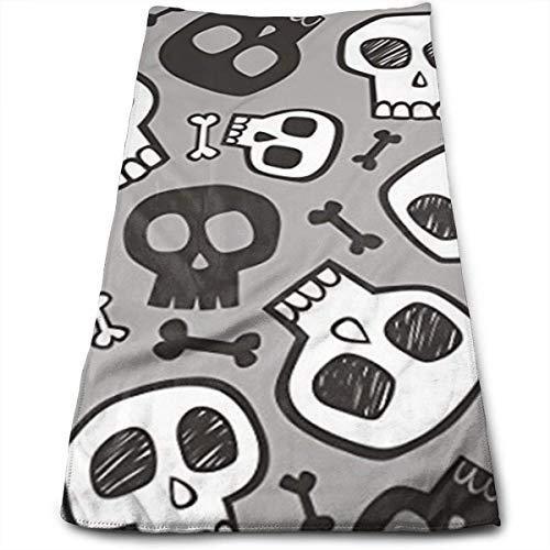 Handtücher, Sporthandtuch, Skulls and Bones Halloween Cool Towel Instant Cool Ice Towel Gym Quick Dry Towel Microfibre Towel Cooling Sports Towel for Golf Swimming Yago Football Beach Garden Holiday
