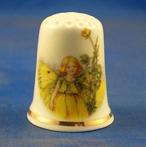 Porcellana cinese collezione ditale Buttercup Fairy