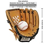 Baseball Glove Sports Batting Gloves Catcher's Mitt with Baseball PU Leather Left Hand Throw 10.5 inch 11.5 inch 12.5 inch for Adult Youth Kids