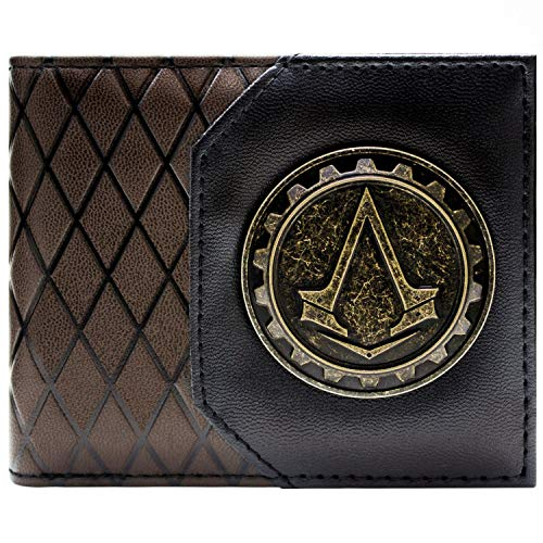 Ubisoft Assassins Creed Syndicate Cog Braun Portemonnaie Geldbörse (Ezio Kostüm Syndicate)