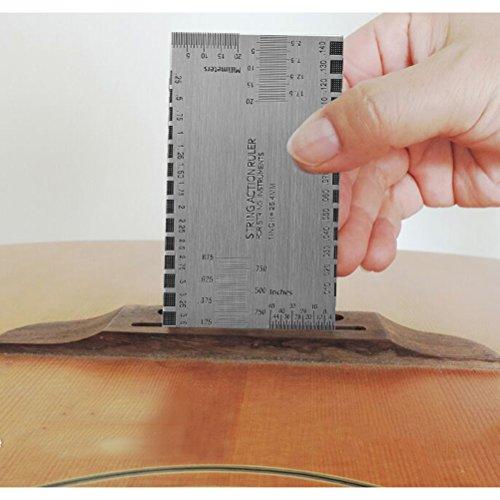 TIMESETL Metrisch Fühlerlehre 32 Blatt 0,04mm - 0,88mm, Edelstahl Fühlerblattlehre Dual Markierte metrische/Imperial Lesen Kombination Werkzeug Gitarre Gauge Lineal Gitarren Repair Tools Messwerkzeuge
