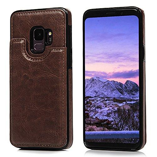 Tophung Samsung Galaxy S9 Custodia In Pelle Crazy Horse PU Cuoio Di Magnetica Del Supporto