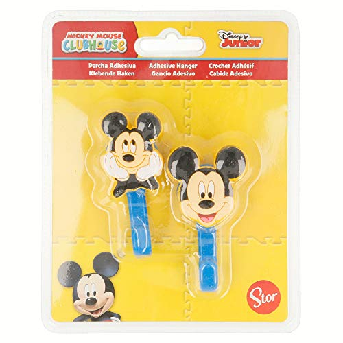 Stor Set 2 unités. Cintres adhésives Laser 3d 4,5 * 6,5 cm Mickey + +