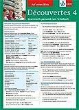 Découvertes 4 - Auf einen Blick: Grammatik passend zum Schulbuch - Klappkarte (6 Seiten)