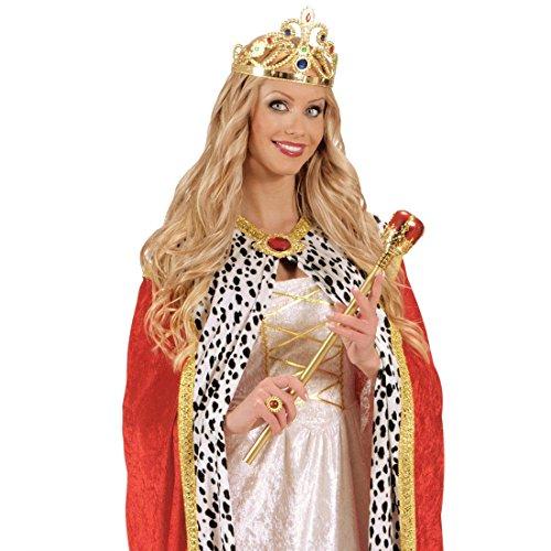 Kinder Kostüm 1914 - NET TOYS König Zepter Deluxe Königszepter Fasching Regenten Regent Kostüm Zubehör Karneval Königin Prinz Prinzessin