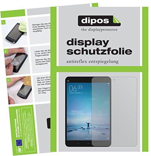 dipos I 2X Schutzfolie matt passend für Xiaomi Mi Pad 3 Folie Bildschirmschutzfolie