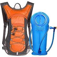 Unigear Trinkrucksack Hydrationspack mit 2L Trinkblase Fahrradrucksack für Joggen, Wandern, Radfahren, Camping und Bergsteig