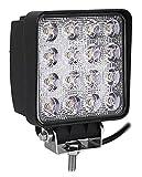 48W LED Work Light,ALPHA DIMA Impermeabile IP67 Faro da Lavoro a LED per Autoveicoli Fuoristrada Barche Trattori Camion Veicoli Industriali 12V 24V