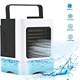 Fromoth Mini Air Cooler, USB Portable Air Cooler, 3-in-1 Small Air Conditioner with Humidifier and Air Purifie, 3 Fan Speeds, USB and rechargeable battery powered, for Office Home Outdoor Travel