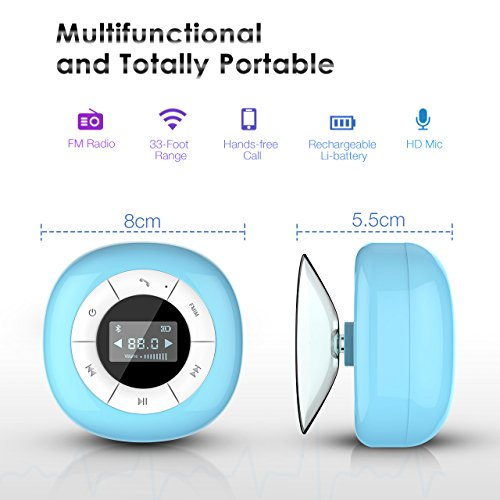 VTIN Mini Bluetooth 4.0 Lautsprecher Wasserdicht Wireless – Subwoofer Effekt für Handys - 3