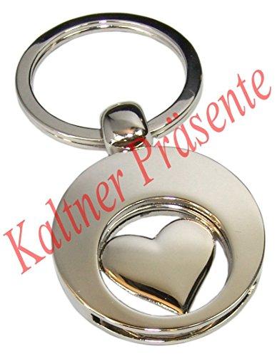 Preisvergleich Produktbild Kaltner Präsente Engel Schlüsselanhänger Anhänger Herz mit Chip für den Einkaufswagen