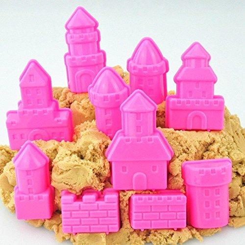 Bazaar 10pcs Un Ensemble Mini-bébé Enfants Jouet Enfant intérieur Argile château modèle balnéaire Plage Mouvement Cadeau Sable Magique