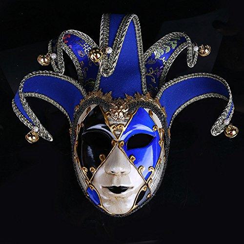 K&C Kostüm Maske Maskerade Maske Halloween Karneval Cosplay Party Masque Joker Maske Blau