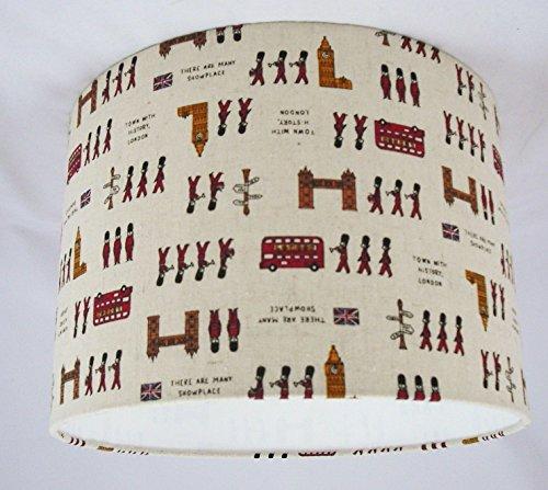 Tophouse-Design - Lampenschirme & Kissen Handgemachte Lampenschirm 41cm - London Impression Baumwollleinengewebe