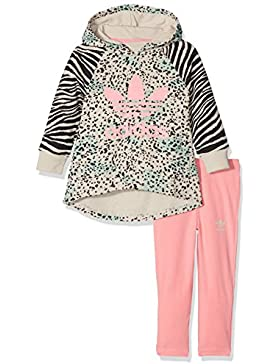 Adidas tuta da bambini YWF Hoodie, Bambini, YWF Hoodie, Multicolor/Ray Pink, 92