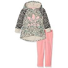 adidas Niños ywf Hoodie Chándal, otoño/invierno, infantil, color Multicolor/Ray Pink, tamaño 2 años (92 cm)
