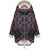 NPRADLA 2018 Große Größen Herbst Damen Jacke Winter Lang Elegant Festlich Frauen Mantel Woolen Oberbekleidung Casual Langarm Daunen Warme(Marineblau,L/EU Gr.48)
