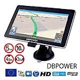 """GPS DBPOWER-772 de 7"""" HD camiones Europa nuevos mapas 2018"""