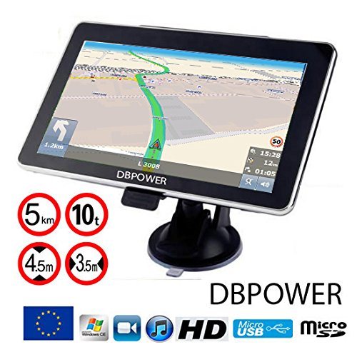 Navigateur DBPOWER-772 GPS 7 Pouces eu 2018 Poids Lourds...