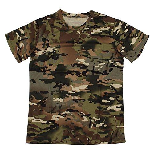 Cikuso Nuevo Camiseta camuflaje de caza al aire...