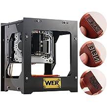 WER Máquina de grabado 1000mW mini grabador láser impresora con velocidad rápida