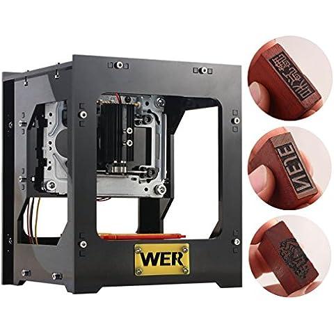 Máquina de grabado 1000mW WER mini grabador láser impresora laser con velocidad rápida